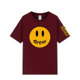 Drew Smile Face Print Fashion Oversize Short Sleeve Unisex T-shirt