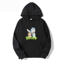 Rick and Morty Casual Hoodie Fleece Inside Cozy Tops For Fall and Winter
