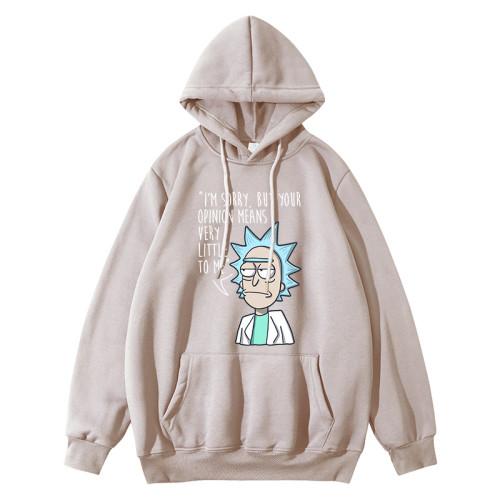 Rick and Morty Youth Teens Hoodie Trendy Long Sleeve Pullover Fleece Hooded Sweatshirt