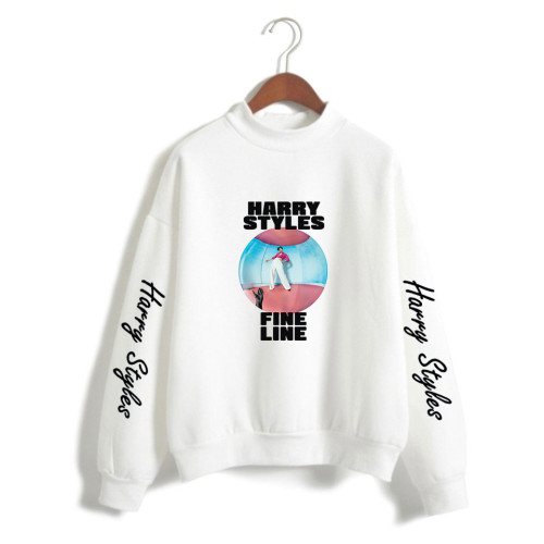 Harry Styles Turtle Neck Sweatshirt Girls Long Sleeve Pullover Sweatshirt Fleece Inside