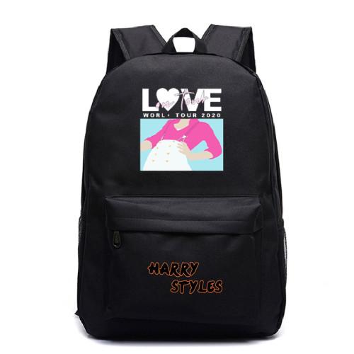 Harry Styles Backpacks Stundents School Bookbag Popular Youth Backpacks
