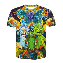 Rick and Morty 3-D Short Sleeve Tee Casual Street Style T-shirt