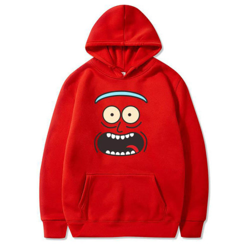 Rick and Morty Fleece Hoodie Fall Winter Tops Unisex Long Sleeve Sweatshirt