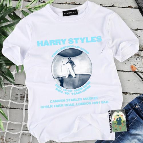 Harry Styles Summer Cotton White Tee Unisex Short Sleeve Casual Tee Tops