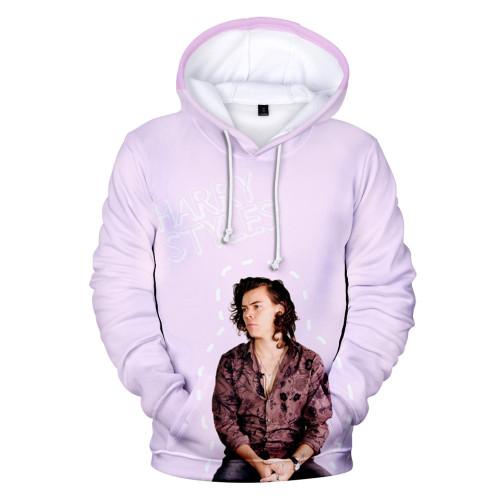 Harry Styles 3-D Hoodie Unisex Long Sleeve Casual Hooded Sweatshirt Fleece Hoodies