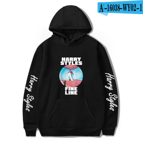 Harry Styles Hoodies Fine Line Print Graphic Fleece Hoodies Long Sleeve Pullover Sweatshirt