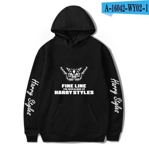 Harry Styles Hoodies Butterfley Tatoo Print Long Sleeve Hooded Sweatshirt