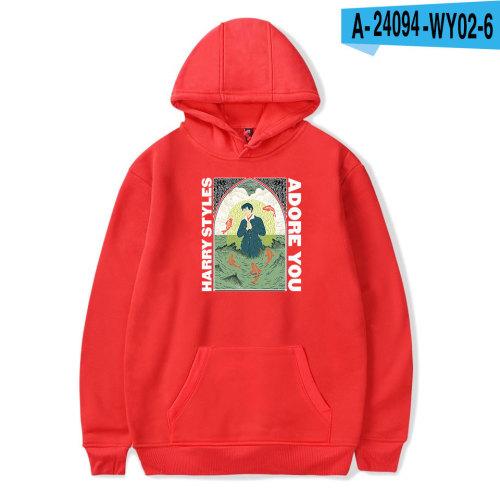 Harry Styles Adore You Print Hoodie Long Sleeve Pullover Sweatshirt Casual Warm Fleece Hoodie