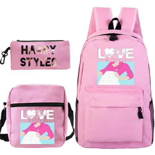 Harry Styles Students Backpack Set 3pcs Backpack With Lunch Bag and Pencil Bag