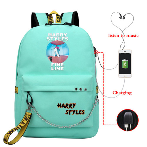 Harry Styles Students Backpack With USB Charging Port School Bookbag