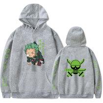Anime One Piece Roronoa Zoro Hoodies Long Sleeve Warm Sweatshirt Pullover Fleece Tops