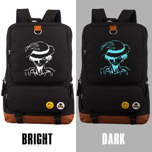 Anime One Piece Glow In The Dark Backpack School Backpack Computer Backpack