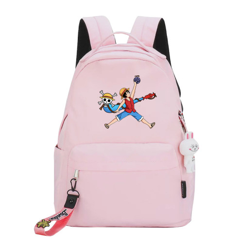 Anime One Piece Luffy Backpack Students School Backpack Daily Backpack For Youth Teens