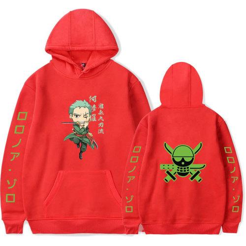Anime One Piece Roronoa Zoro Unisex Sweatshirt Long Sleeve Hoodies