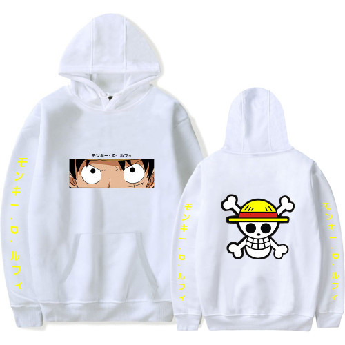 One Piece Luffy Hoodie Unisex Long Sleeve Casual Fleece Hoodies Sweatshirt