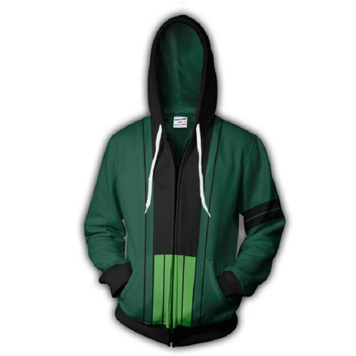 Anime One Piece 3-D Hoodie Zipper Jacket Long Sleeve Winter Fall Hooded Jacket Coat