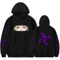 Anime One Piece Nico Robin Hoodies Pullover Hooded Sweatshirt With Fleece Inside For Fall and Winter