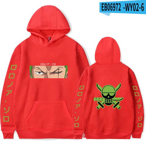 Anime One Piece Roronoa Zoro Sweatshirt Unisex Hoodies Long Sleeve Pullover Shirts