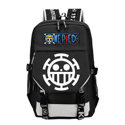 Anime One Piece Big Capacity Backpack With USB Charging Port Students Bookbag Daily Backpack