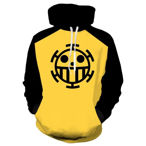 Anime One Piece 3-D Hoodie Casual Street Style Trendy Hooded Tops For Winter Fall