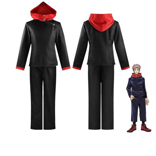 Anime Jujutsu Kaisen Costumes Itadori Yuji Black/Blue Cosplay Uniform Halloween Costume