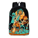 Rick and Morty 3-D Kids Girls Boys Backpack School Bookbag Travel Backpack
