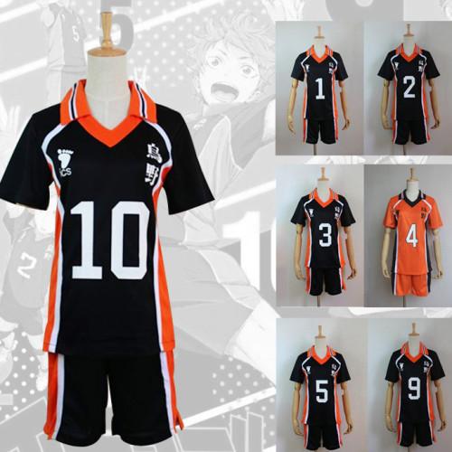 Anime Haikyuu!! Costume Karasuno High Cosplay Uniform Volleyball Team Cosplay Uniform Kageyama Costumes Halloween Costume