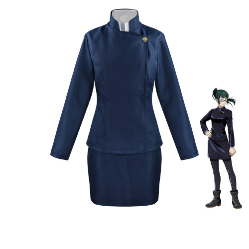 Anime Jujutsu Kaisen Costumes Mai Zenin Black/Blue Cosplay Costume Halloween Cosplay outfit