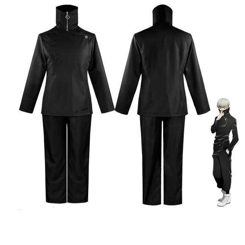 Anime Jujutsu Kaisen Costumes Inumaki Toge Black/Blue Cosplay Costume Set Halloween Costume Oufit