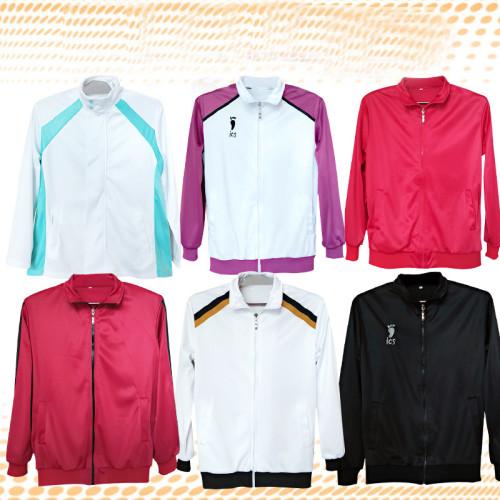 Anime Haikyuu!! Volleyball Team Cosplay Costume Zipper Jacket Halloween Unisex Party Costume