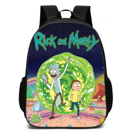 Rick and Morty Students Backpack 3-D Color School Backpack For Girls Boys