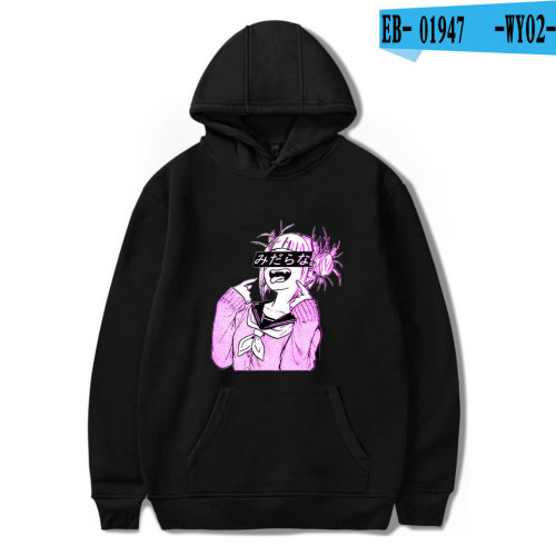 My Hero Academia Characters Print Hoodie Youth Teens Casual Hooded Tops Fleece Sweatshirt