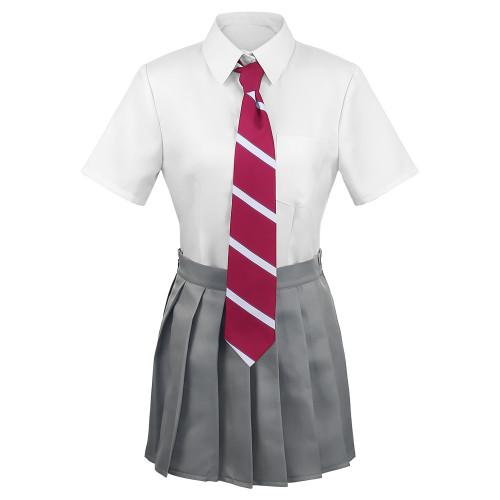 Tokyo Revengers Cosplay Costume  Hinata Tachibana School Uniform Costume  Full Set Skirt Tops Tie an Socks Set