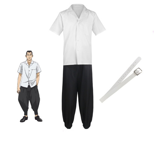 Tokyo Revengers Cosplay Costume Hanagaki Takemichi School Uniform Costume Suit Top Pants and Belt