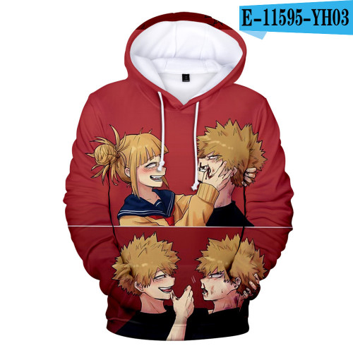 My Hero Academia 3-D Trendy Tops Youth Teens Hoodies Casual Pullover Sweatshirt Outfit