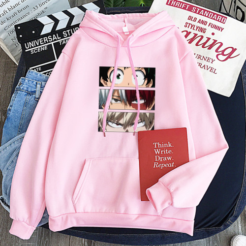 My Hero Academia Casual Hoodie Comfy Street Style Long Sleeve Pullover Sweatshirt