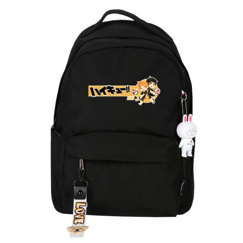 Anime Haikyuu!! Karasuno Backpack Youth Teens Unisex Backpack Popular School Backpacks