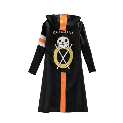 Anime One Piece Trafalgar Law 3nd Cosplay Costume Cloak Halloween Costume