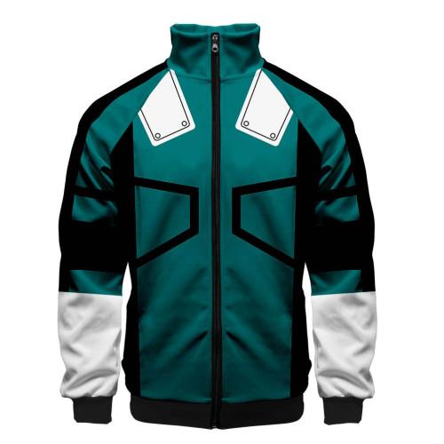 My Hero Academia Zipper Jacket 3-D Cosplay Costume Zip Up Coat