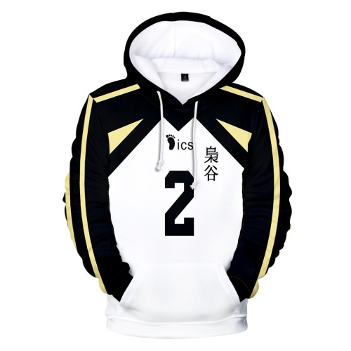 Anime Haikyuu!! Fukurōdani Academy Volleyball Team Hoodie Pullover Sweatshirt