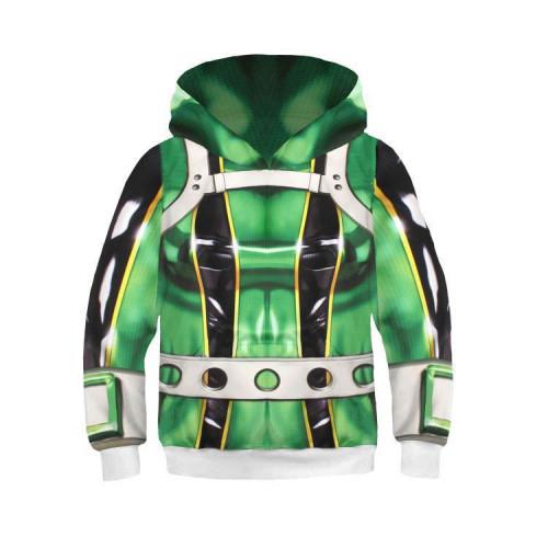 My Hero Academia Kids Girls Boys Hoodie  3-D Casual Hooded Pullover Sweatshirt