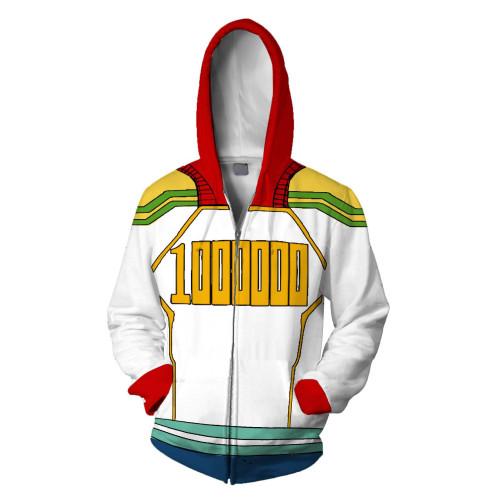 My Hero Academia 3-D Zipper Hooded Jacket Unisex Cosplay Costume Coat
