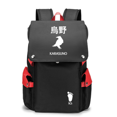 Anime Haikyuu!! Backpack Youth Adults Cool Backpack Daily Backpack Computer Backpack With USB Charging Interface