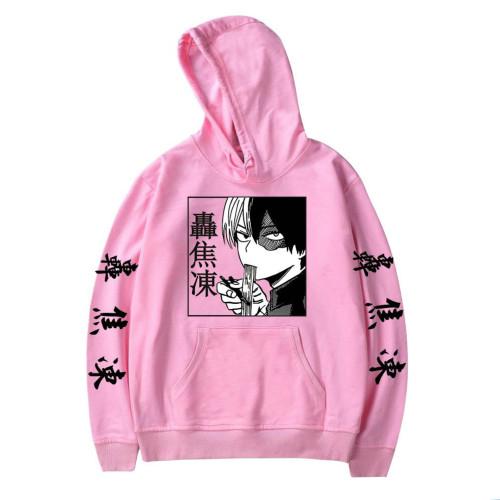 My Hero Academia Todoroki Shoto Hoodie Anime Merch Comfy Fleece Hooded Sweatshirt Fans Gift