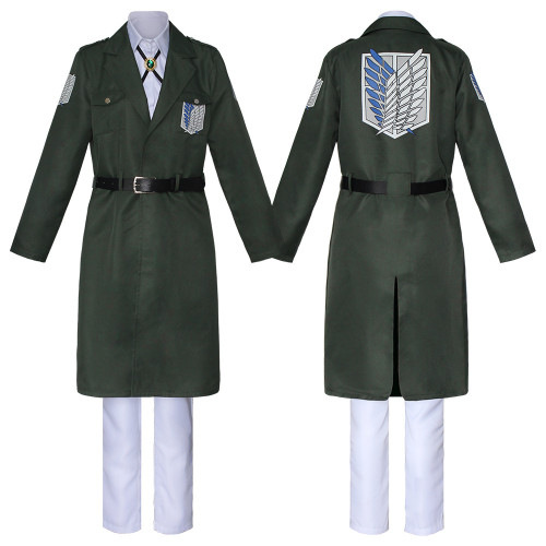 Anime Attack On Titan Season 4 Final Season Costume Uniform Scout Regiment Survey Corps Eren Cosplay Costume