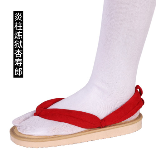 [Kids/Adults] Anime Demon Slayer kyojuro Rengoku  Cosplay Accessories Coaplay Shoes Coaplay Clogs