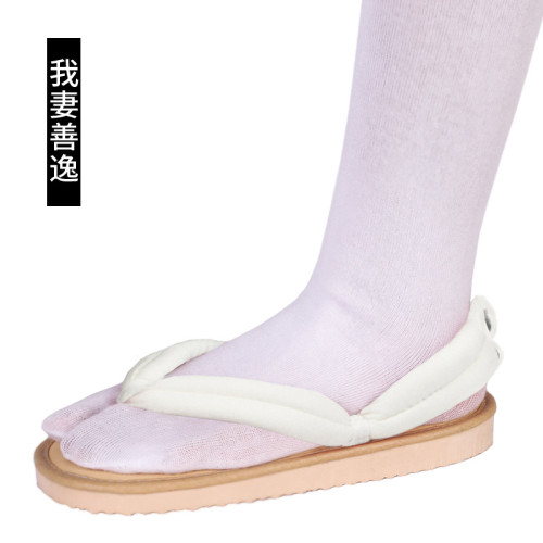 [Kids/Adults] Anime Demon Slayer Zenitsu Agatsuma Cosplay Accessories Coaplay Shoes Coaplay Clogs