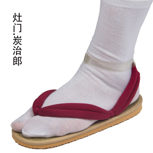 [Kids/Adults] Anime Demon Slayer Tanjiro Kamado Cosplay Accessories Coaplay Shoes Coaplay Clogs