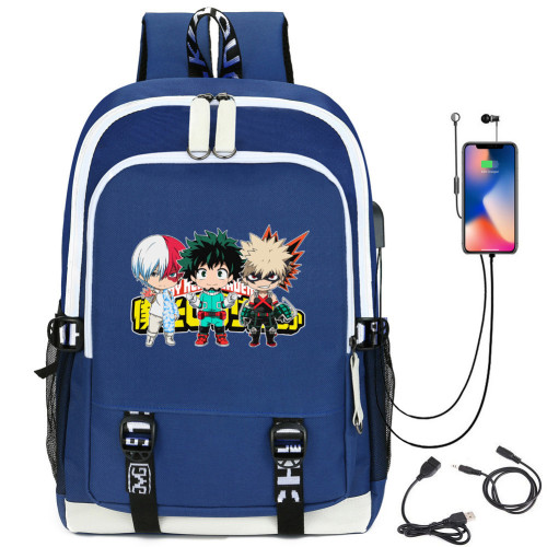 My Hero Academia Kids Youth Backpack School Backpack With USB interface