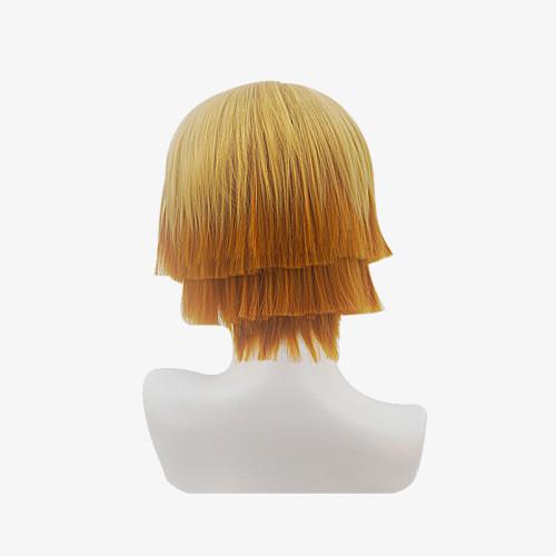 Anime Demon Slayer Zenitsu Agatsuma Cosplay Accessories Cosplay Wigs
